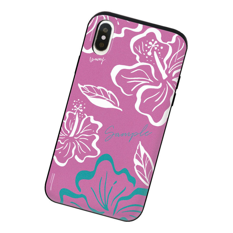 [Custom] Vintagey PUA ALOALO -ʻĀkala- iPhone case + IC card