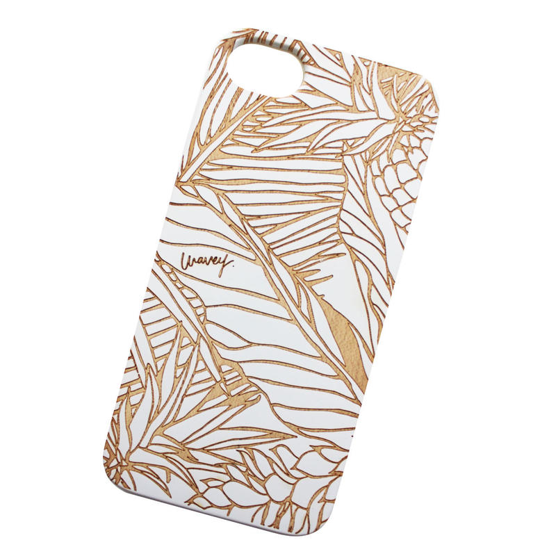 【iPhone XS対応】LĀʻAU iPhone case -Pililani- WHITE