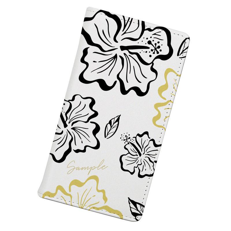[Custom] Vintagey PUA ALOALO -Keʻokeʻo- Wallet type iPhone case (手帳型)