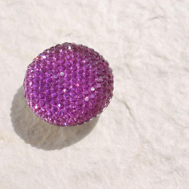 キラぷるゼリーの帯留(ちび紫)