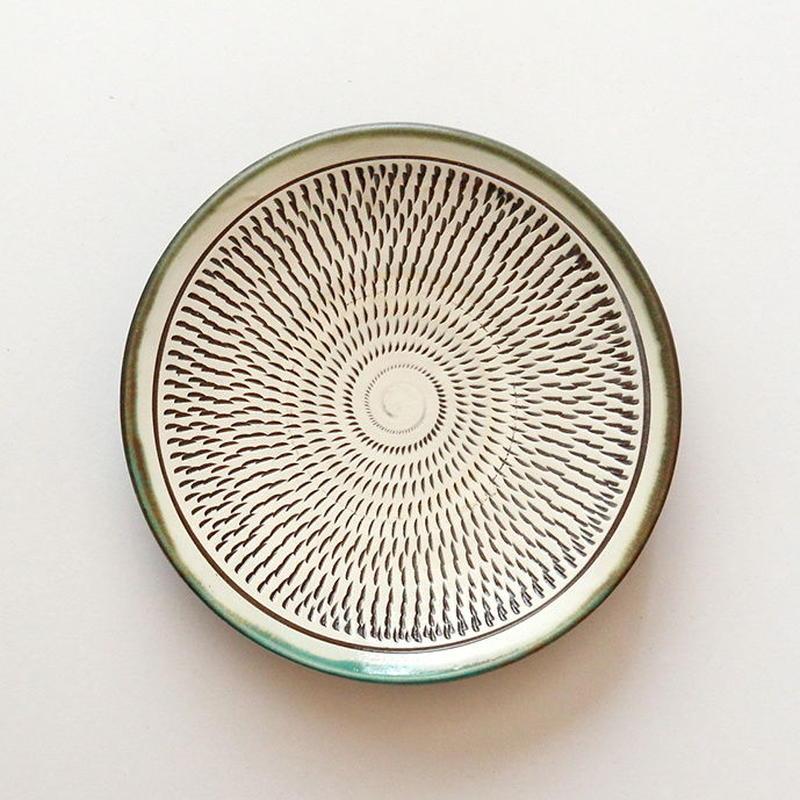 小鹿田焼 6寸皿 b