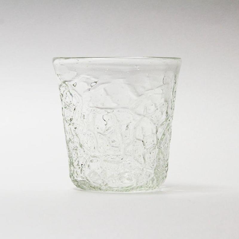 吹きガラス アイスカットロックグラス(透)