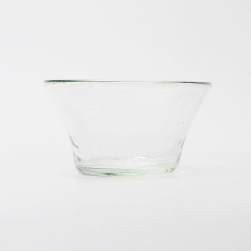 吹きガラス 円すい小鉢(透)