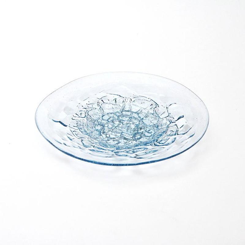 吹きガラス アイスカット皿(ラムネ)