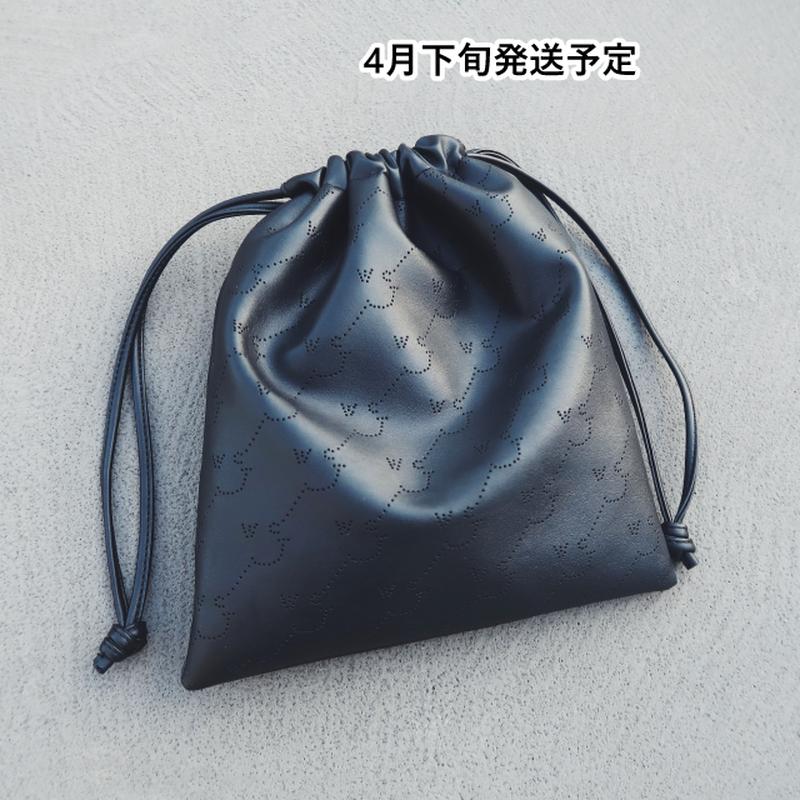 WCJパンチングドローストリングバッグ【WCJ-MT-002BK】