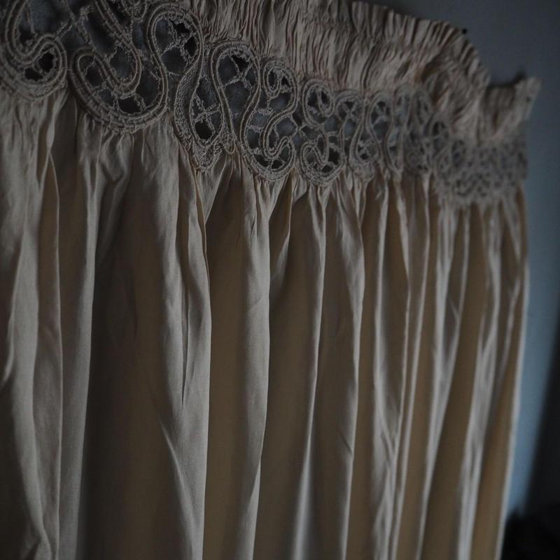 un rideau soie
