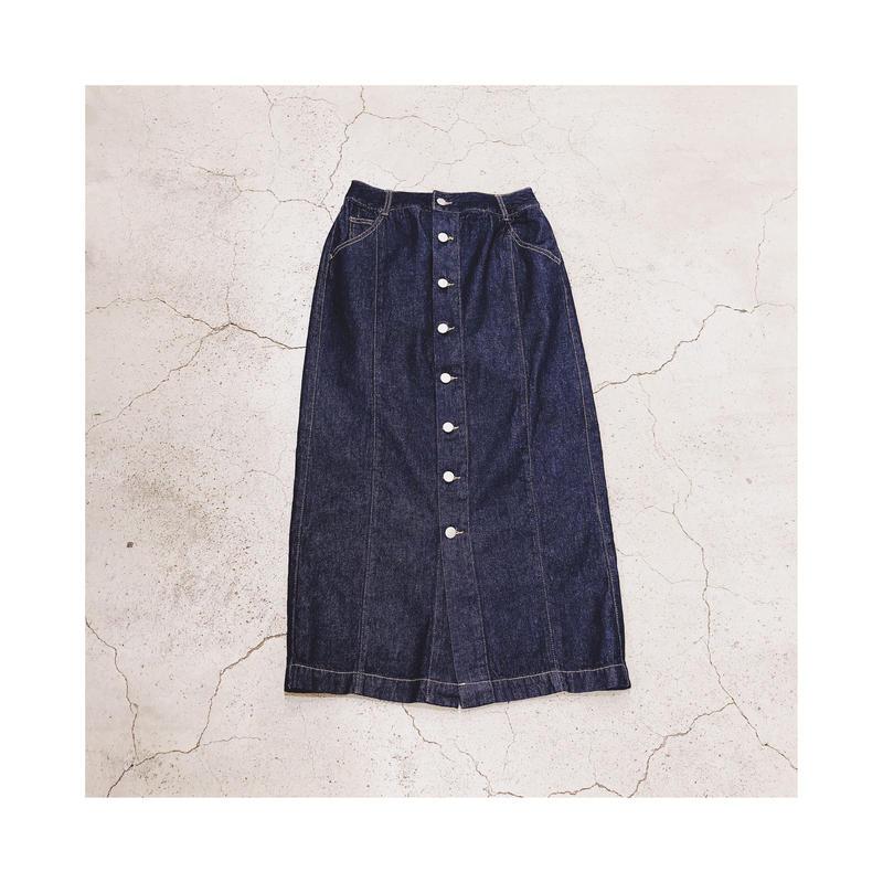 フロントボタンデニムスカート