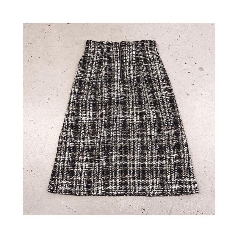 フロントジップツイードスカート