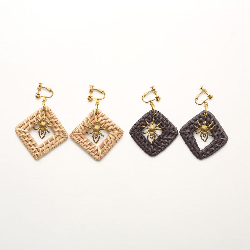 Spider net earring