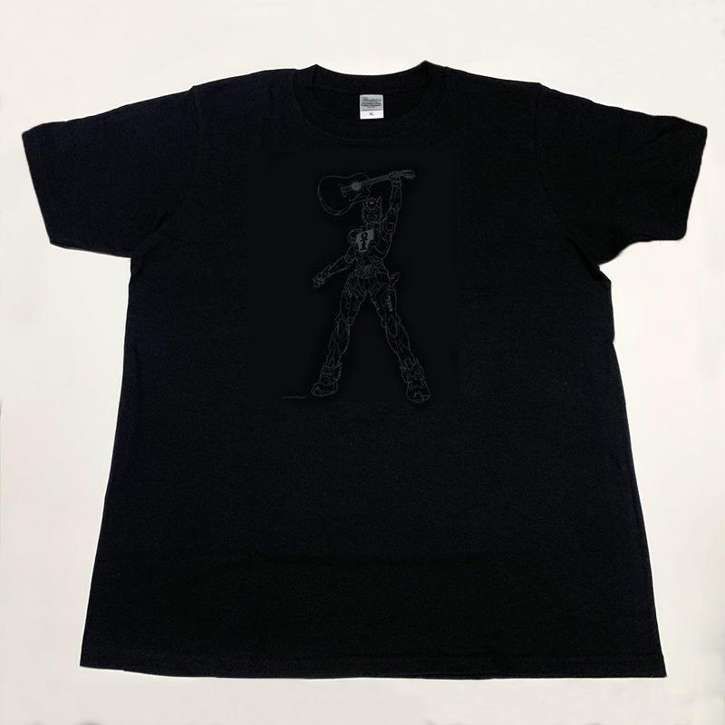 音屋吉右衛門ロボTシャツ(ブラック&グレー・丸首)