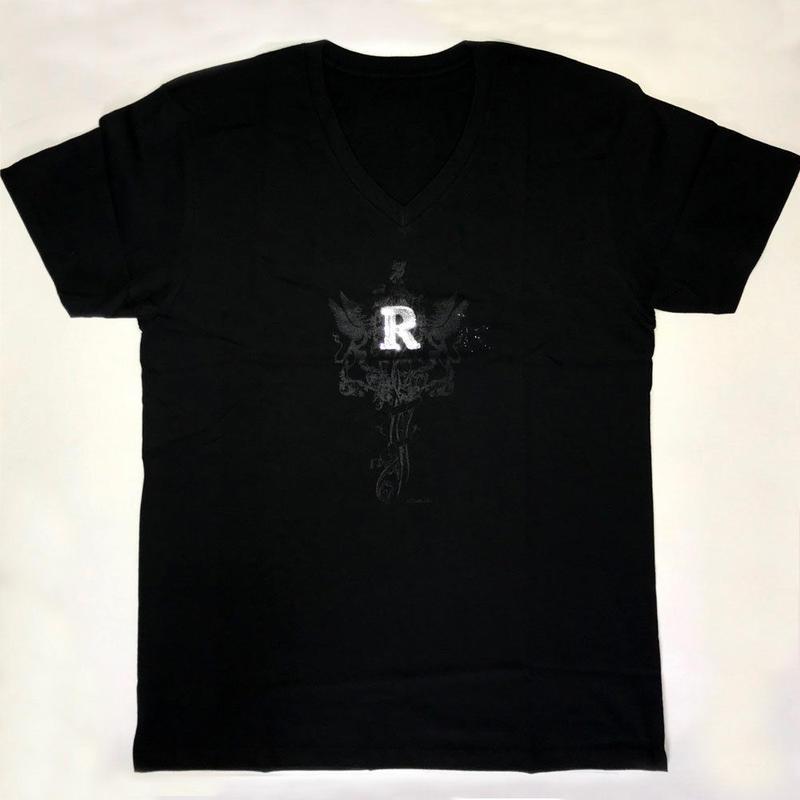 RスパンコールVネックTシャツ(男女兼用)