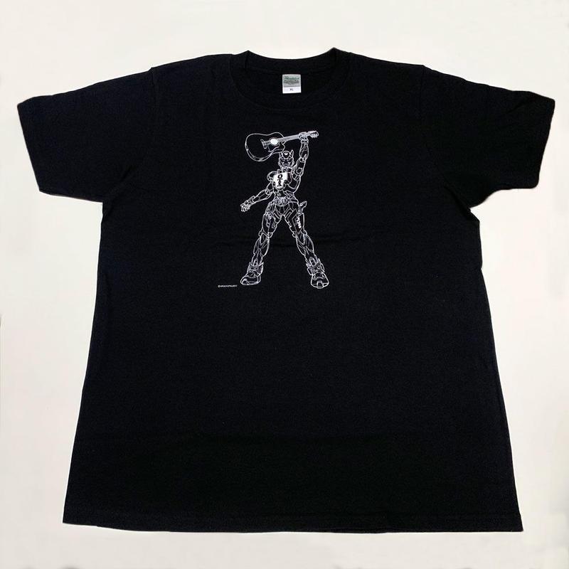 音屋吉右衛門ロボTシャツ(ブラック&ホワイト・丸首)