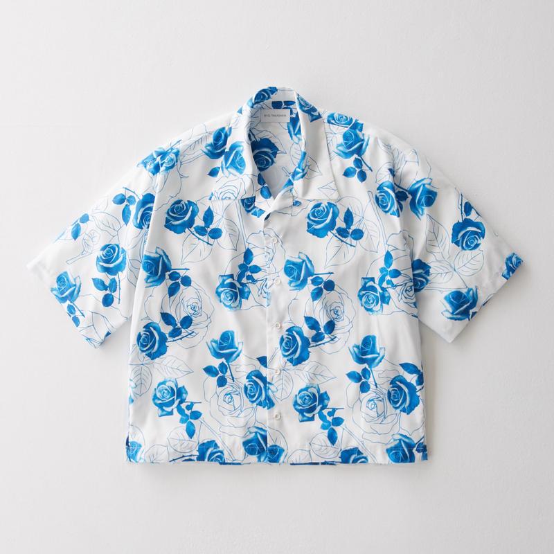 Blue rose Open Color Shirt    (WHITE)