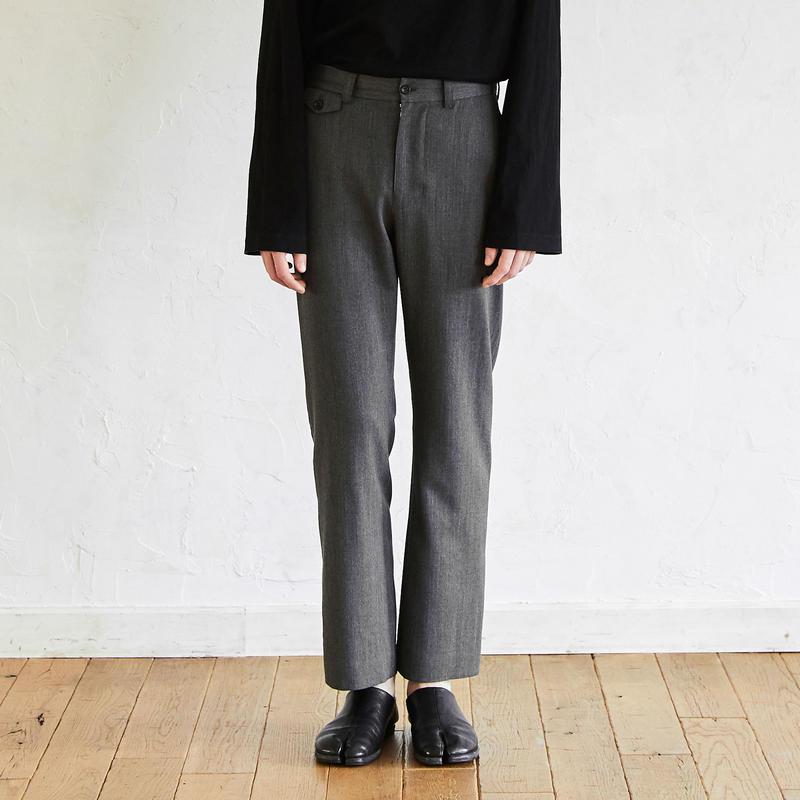 Straight Slacks(Gray)