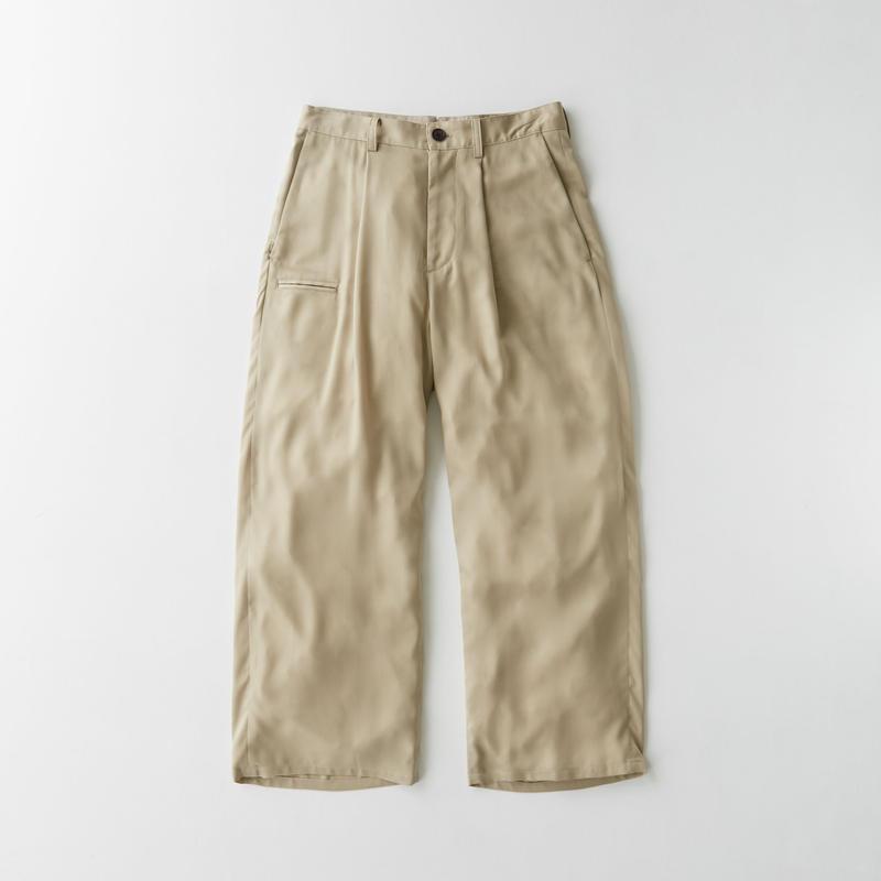 Spun  cupra Wide pants(Beige)