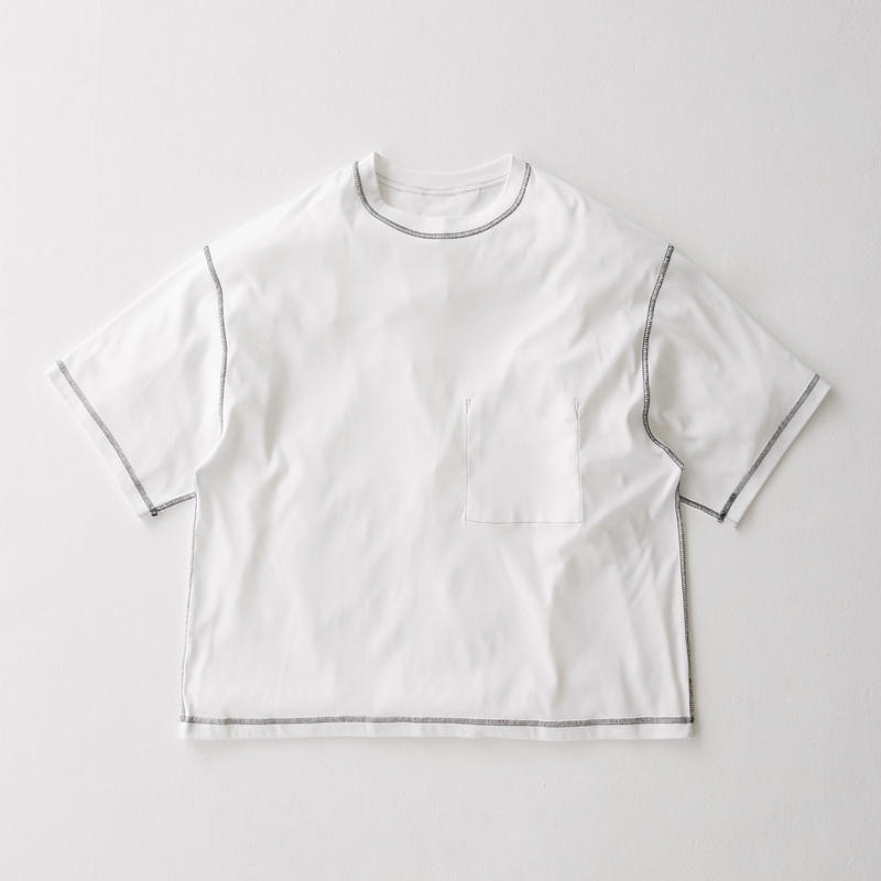 Inside-out Stitch Tee (WHITE)