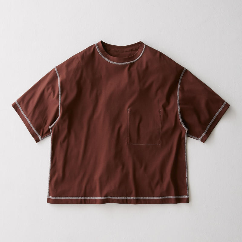Inside-out Stitch Tee (BROWN)