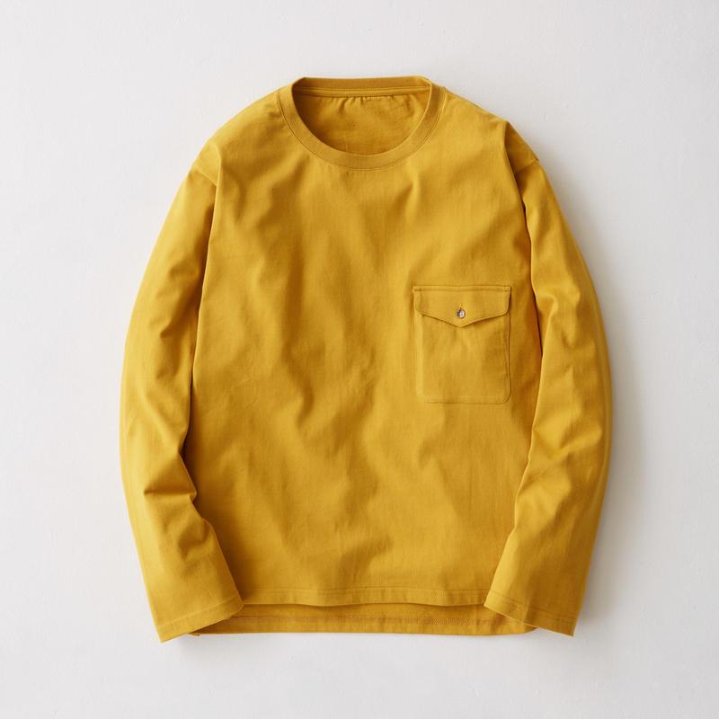 Flap Pocket Long Sleeve Tee(Mustard)