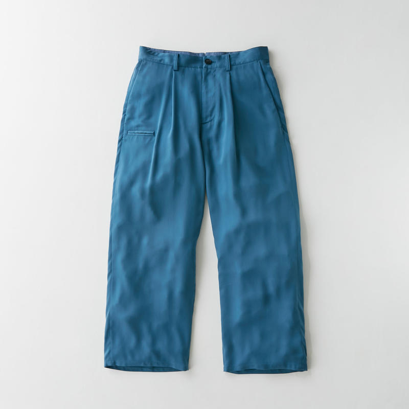 Spun  cupra Wide pants(Blue)