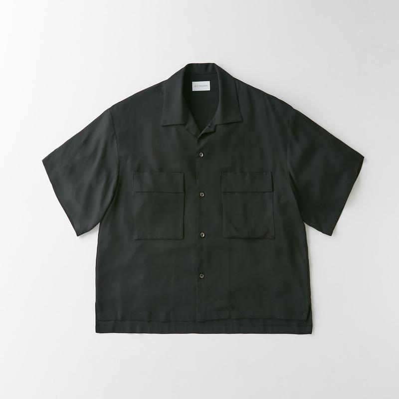 Spun  cupra Open collar shirt (Black)