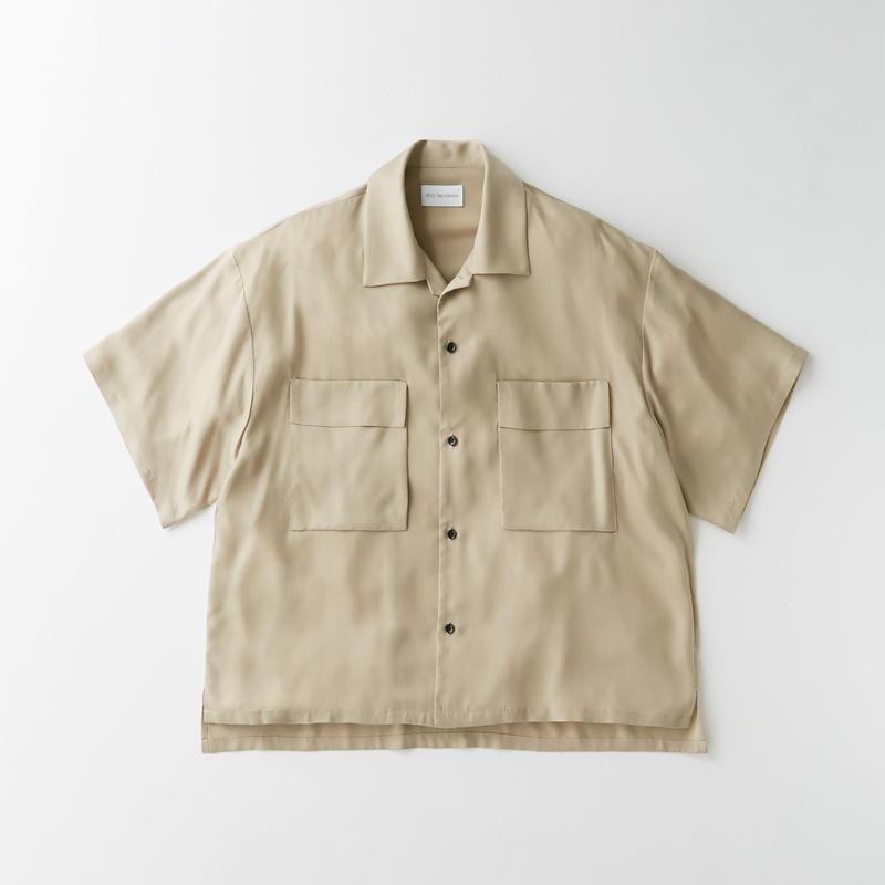 Spun  cupra Open collar shirt (Beige)