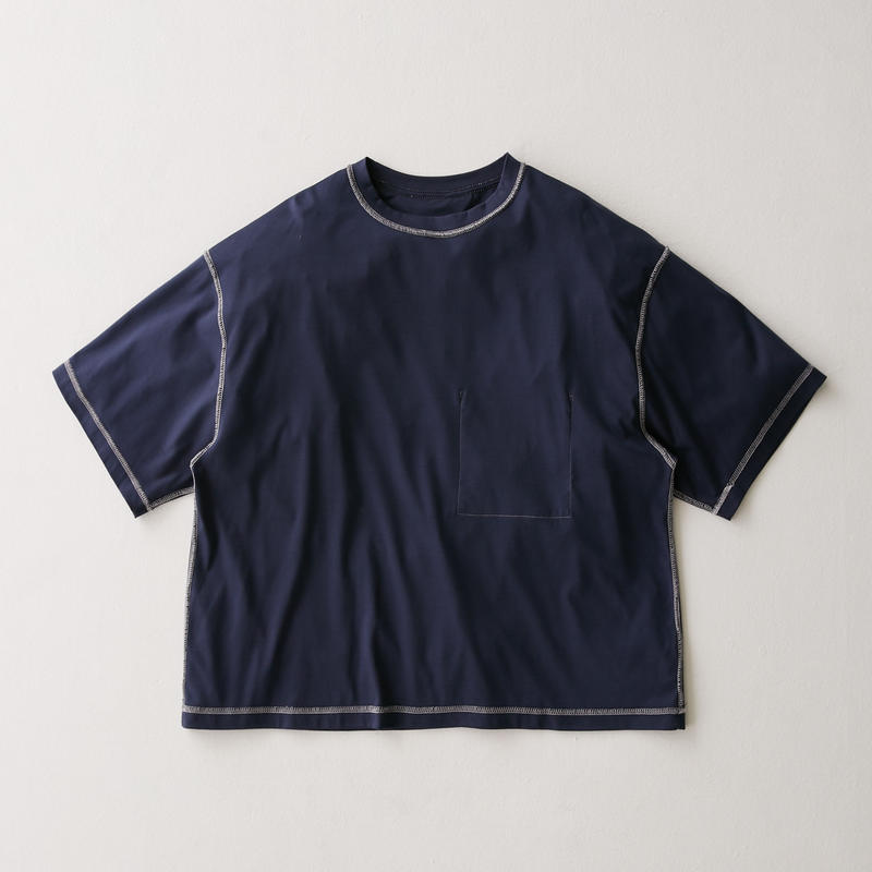 Inside-out Stitch Tee (NAVY)