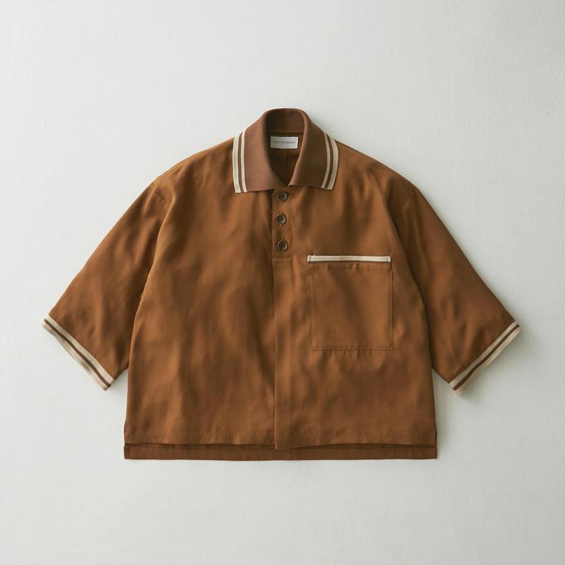 Tencel oversize poloshirt(Brown)