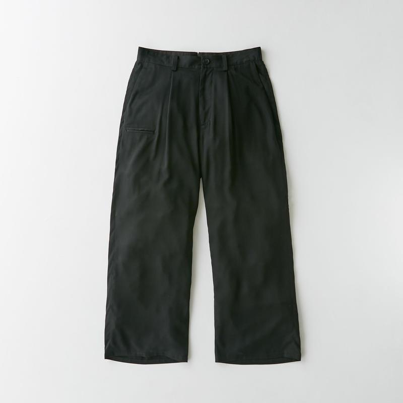 Spun  cupra Wide pants(Black)