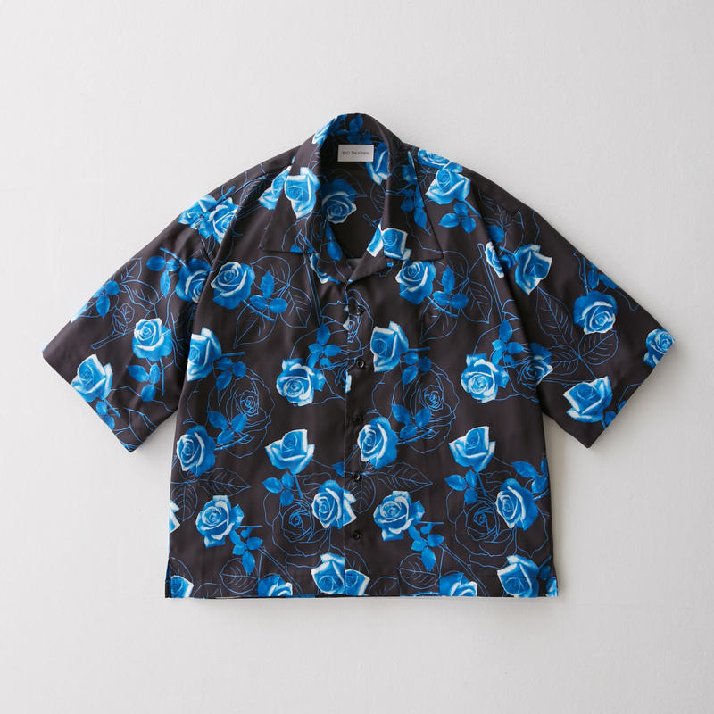 Blue rose Open Color Shirt     (BLACK)