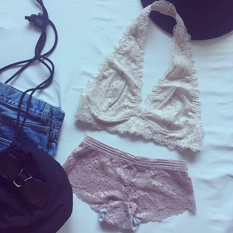 ホルターネック beige × pink