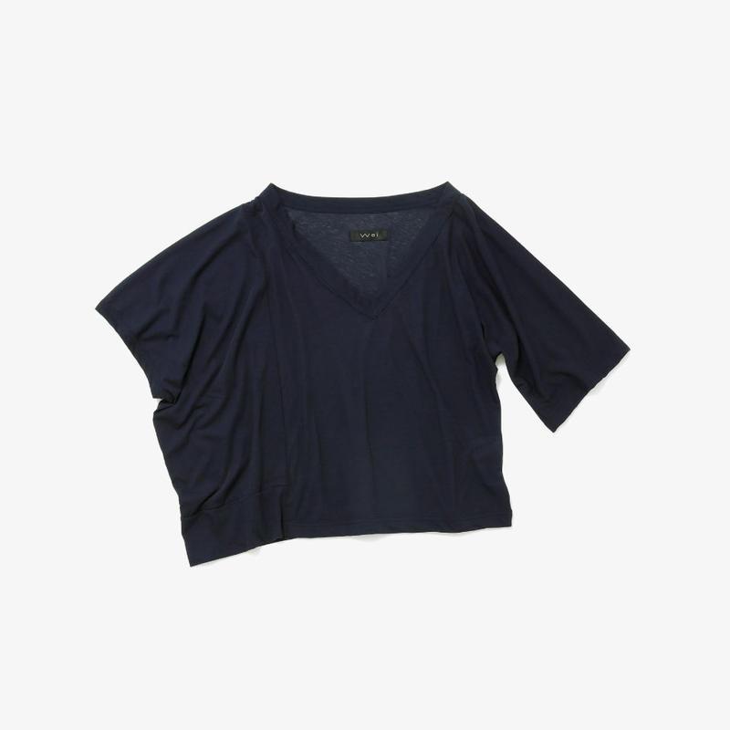 アシンメトリービッグTシャツ(navy)