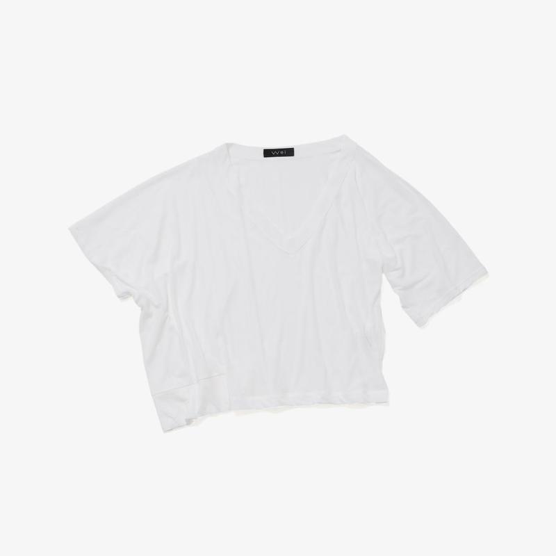 アシンメトリービッグTシャツ(white)