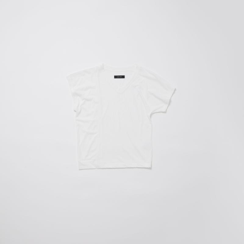 アシンメトリーミニTシャツ