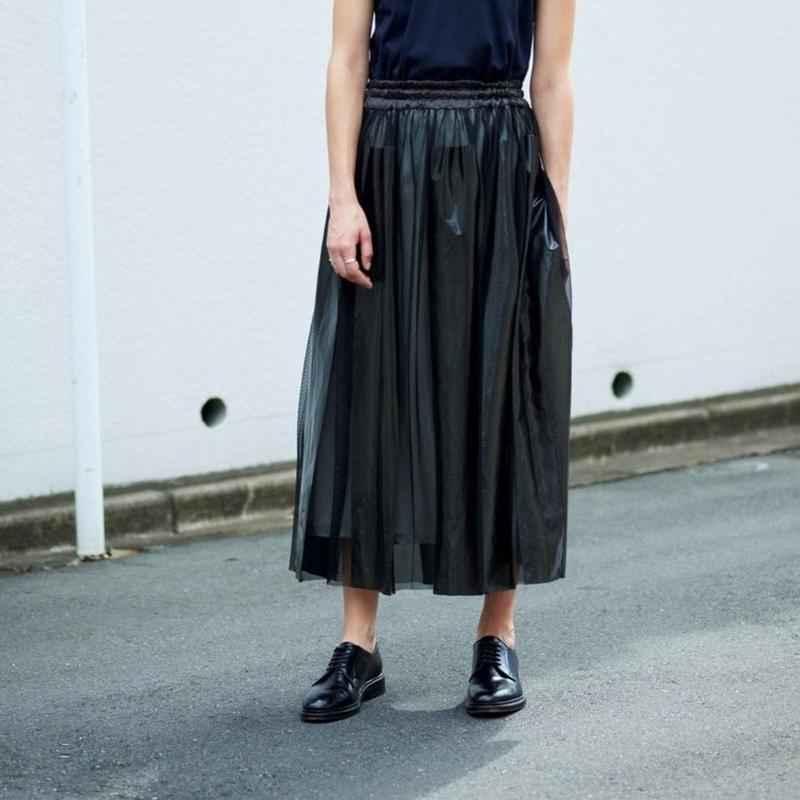 【Standard 】Rubber long skirt(black)