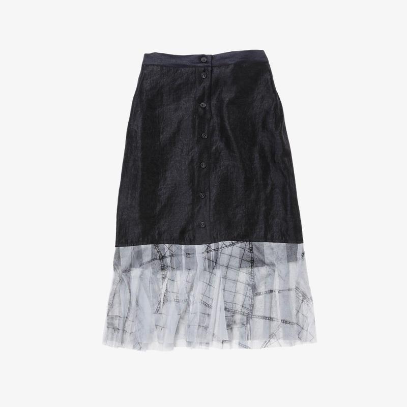 【NEW】タイトスカート(black×black denim)