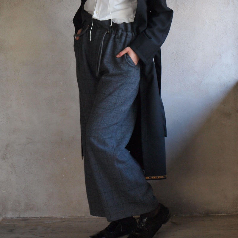 Wide pants(gray check)