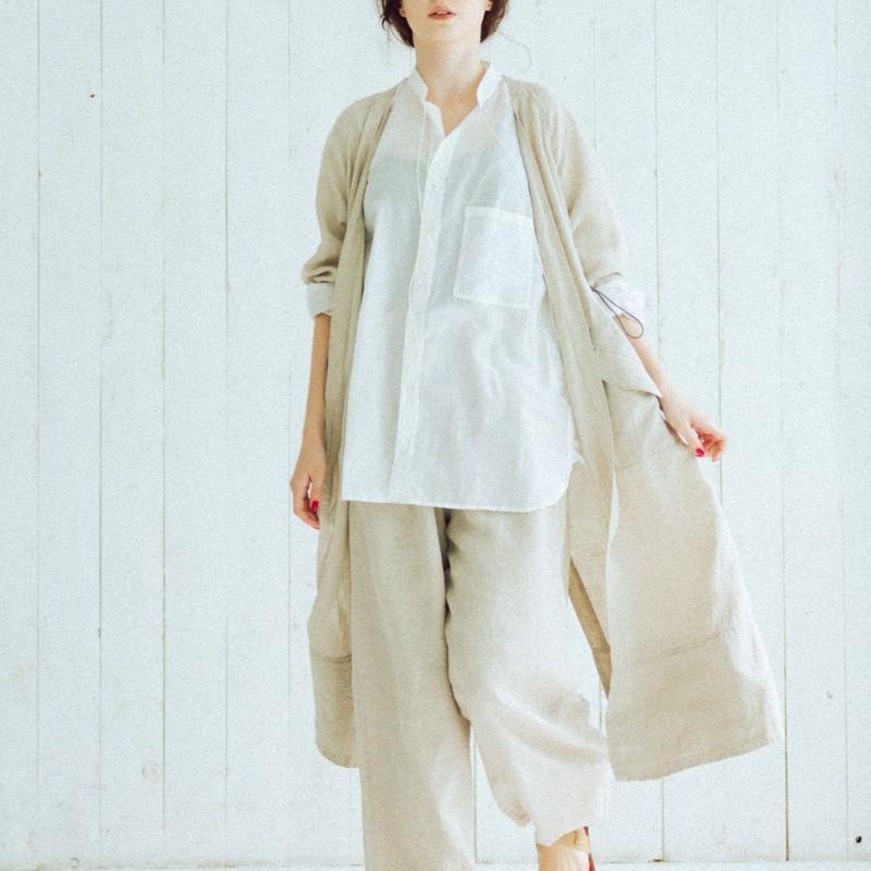 Linen gown(beige)