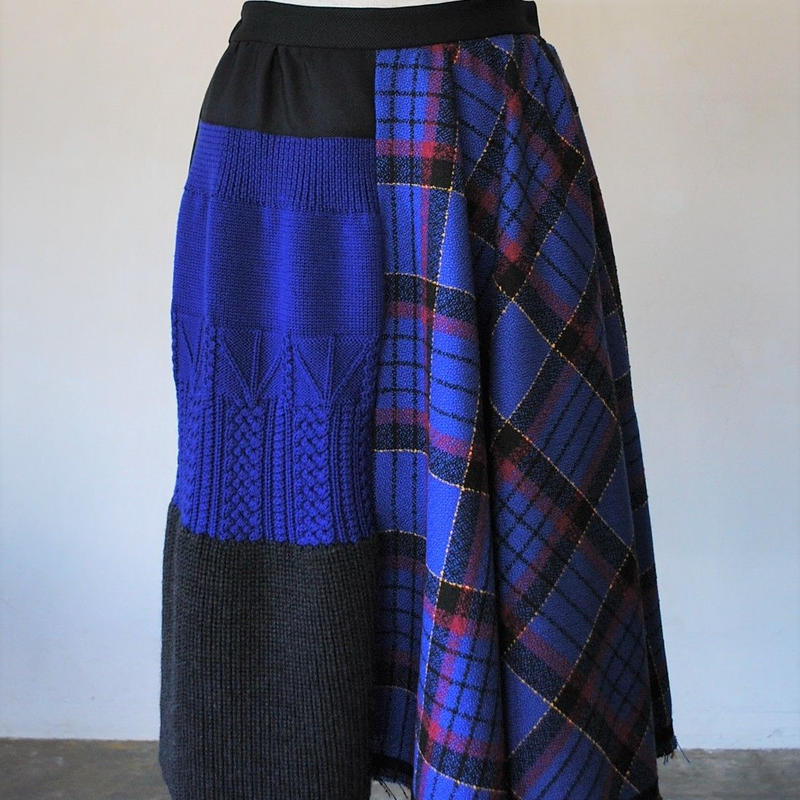 Skirt(blue check)