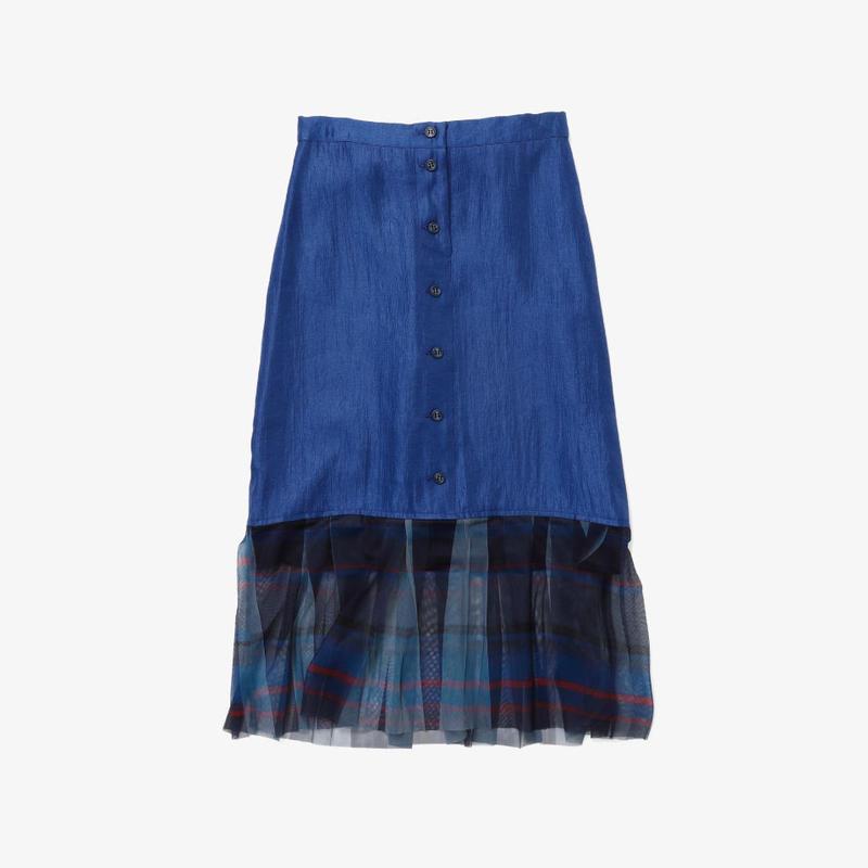 【NEW】タイトスカート(blue×navy check)
