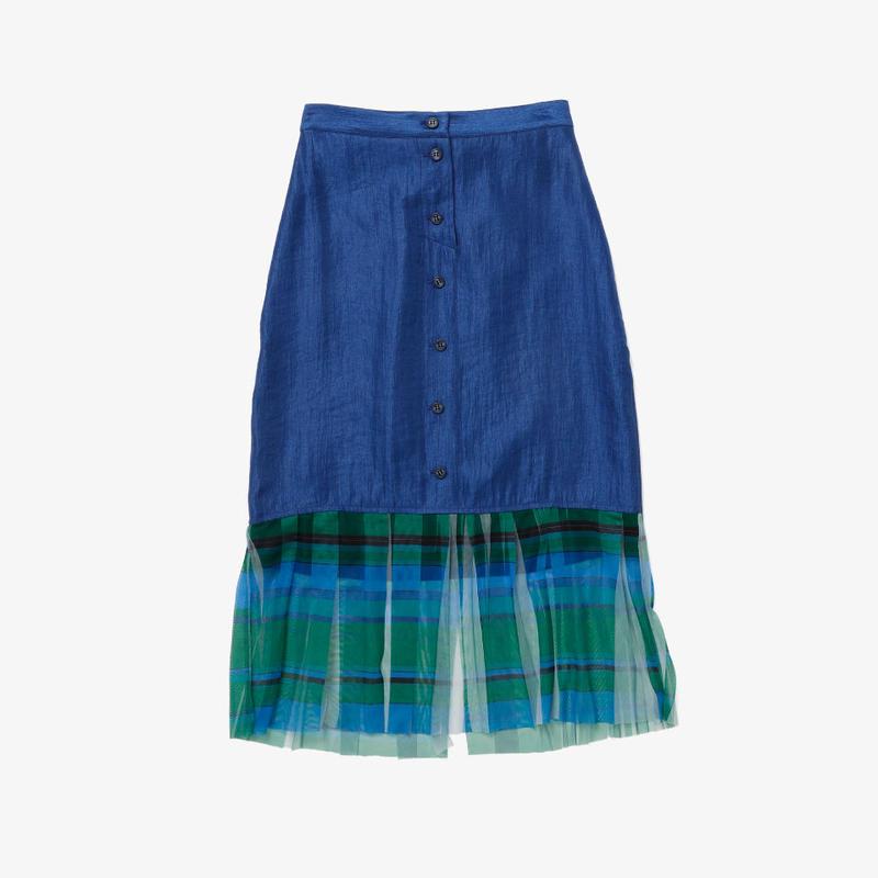 【NEW】タイトスカート(blue×green check)