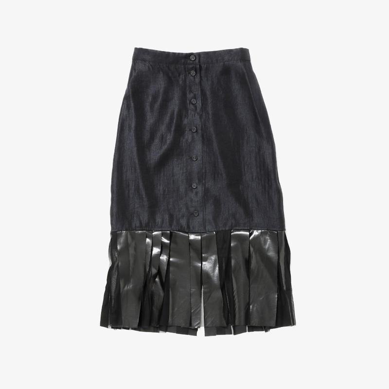 【NEW】タイトスカート(black×black rubber)