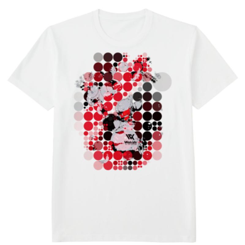 Wekids Tshirt Red Pop (white)