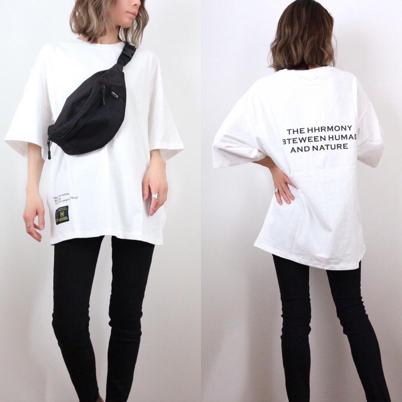 レタードプリントBIG Tシャツ【WHITE】