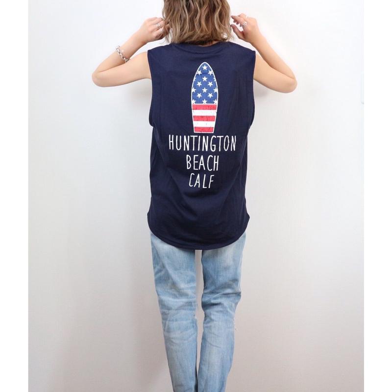 星条旗サーフボードタンクトップ【NAVY】