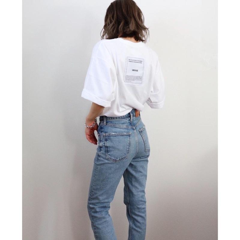 バックワッペンBIG Tシャツ【WHITE】