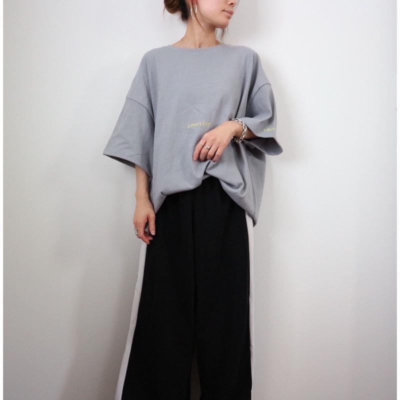 レタリングBIG Tシャツ【GRAY】