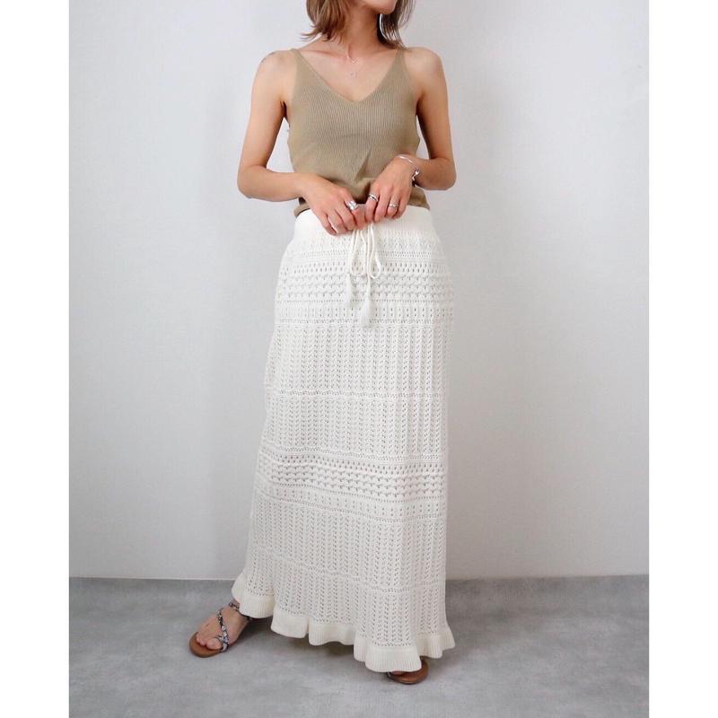 カギ網みサマーニットロングスカート