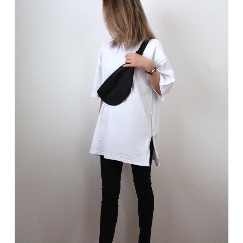サイドZIP BIG Tシャツ【WHITE】