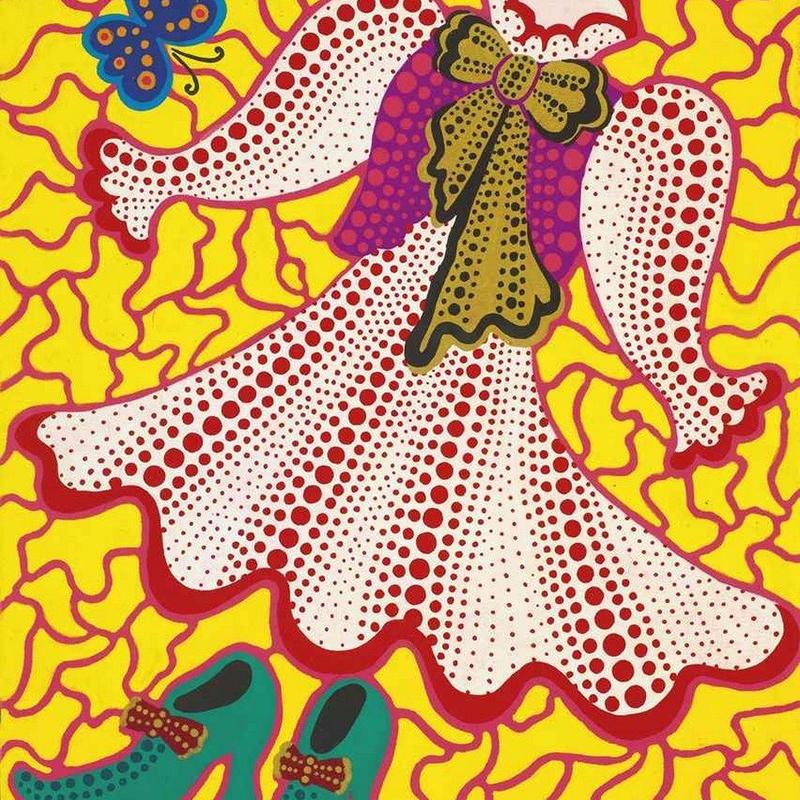 草間彌生 服(ドレス)  リトグラフ版画 (#182)