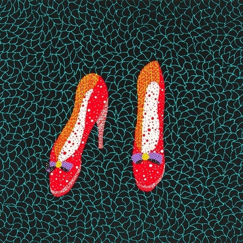 草間彌生 靴(赤いハイヒール)  リトグラフ版画 (#168)